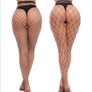 Accessories - 2 Pack High Waisted Fish Net Stockings